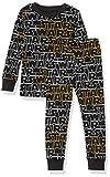 Amazon Essentials Boys Disney Star Wars Marvel Snug-Fit Cotton Pajamas Sleepwear Sets, 2-Piece Star Wars Logo, Small