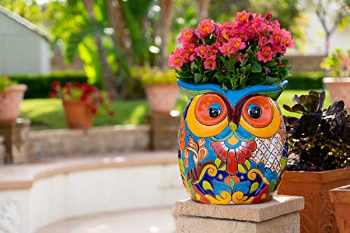 Enchanted Talavera Mexican Sculpture Butterfly