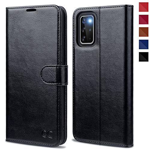 OCASE Samsung Galaxy S20+ Plus Hülle Handyhülle [Premium PU Leder] [Standfunktion] [Kartenfach] [Magnetverschluss] Tasche Cover Etui Schutzhülle lederhülle für Samsung Galaxy S20+ Plus Schwarz