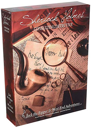 Asmodee editions Juego Sherlock Holmes Consulting Detective: Jack The Ripper and West End Adventures (Puede no Estar en español)