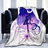 LEEKOTECH Sailor Moon Anime Throw Blanket Ultra Soft Sherpa Fleece Blanket for Home Girl Room Travel Couch Sofa Warm Cozy Fuzzy Blanket for Kids Adults 50'X40'
