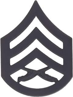 USMC Black Metal (Subdued) Enlisted Rank (Pair)