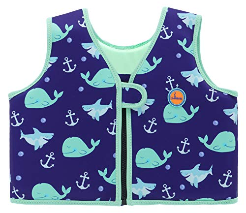 Swimbubs Kids Swim Vest Children's Swimming Float Jacket Toddlers Buoyancy Aid (1-2 Years, Blue Whale)