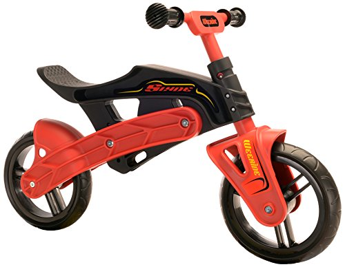 Wee-Ride Slyde Vélo d'équilibre pour garçon Noir/Rouge 25,4 cm