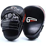 GRITLETIC Boxing Mitts- Curved Adjustable Muay Thai Punching Boxing Pads, Martial Arts Training Equipment for Men, Women and Kids