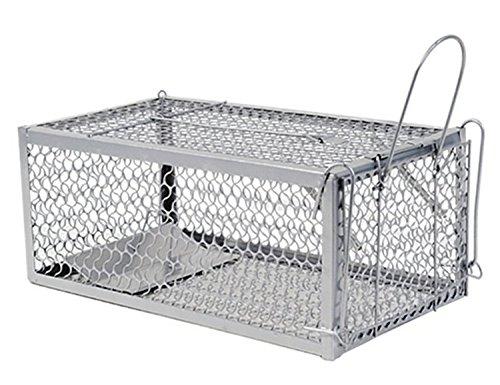 WARKHOME Trappola per Topi 28×15×11 cm - Ferro Gabbia Professionale Trappola per Catturare Mouse, Ratti,Scoiattoli,Topo, Criceto, Talpa, Donnole, Marm