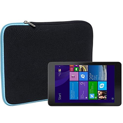 Slabo Tablet Tasche Schutzhülle für Dell Venue 8 Pro Hülle Etui Hülle Phablet aus Neopren – TÜRKIS/SCHWARZ