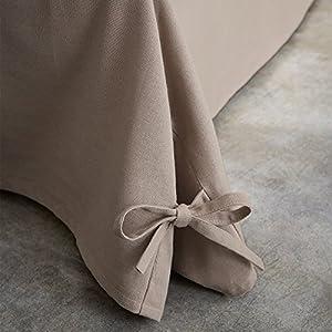 TODAY 576334Cache - Funda de somier, algodón/Tela Tejida/Polipropileno, algodón, Gris, 160 x 200 cm