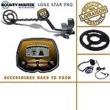 Bounty Hunter–Detector de Metales Lone Star Pro con Protector de Disco y auriculares