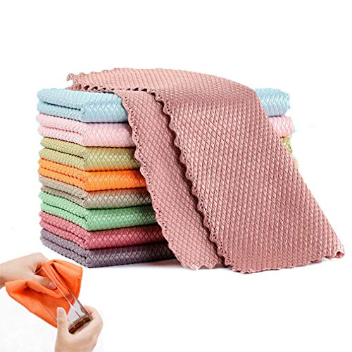 Nanoscale Cleaning Cloth, NanoScale -Streak-Free Miracle Cleaning Cloths Reusable, Easy clean cloths nanoscale microfiber cleaning cloth (12 x 16 Inch,10 Pcs)