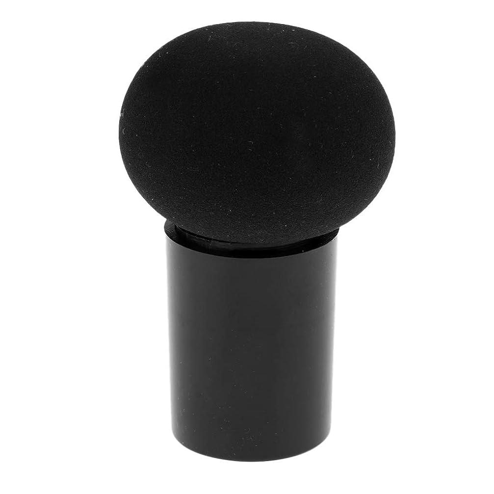 シリンダー貝殻コンソールF Fityle 化粧ツール 化粧スポンジ 化粧パフ メイクスポンジ パウダーパフ 10カラー - ブラック