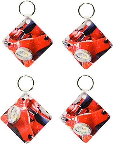 3dRose Italy, Tuscany, Radda Vespa Scooter Eu16 Rdu0243 Richard Duval sleutelhanger, 6 cm, meerkleurig (Varies)