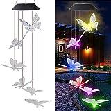 Solar Windspiel Licht LED Hängen Lampe Farbwechsel Schmetterling Lampe Dekoration Lichter Für Korridor Wohnzimmer Esszimmer Hotel