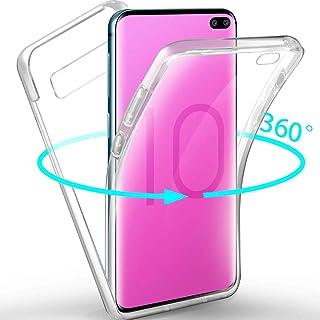 XCYYOO Coque pour Samsung Galaxy S10 Plus Transparent Intégrale Avant et Arrière 360 Degrés Étui de Protection,[Avant + Ar...