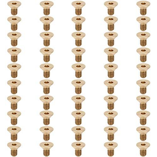 Tornillo plano Tornillo de sujeción Tornillo hexagonal plano, 50 piezas para muebles, juguetes de cama para Fasterning(M4 * 7)