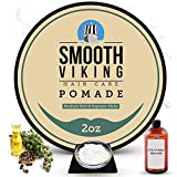 Hair Pomade for Men | Smooth Viking Pomade for Men Medium Hold & High Shine (2 Ounces) - Water Based Mens Hair Pomade for Straight, Thick and Curly Hair