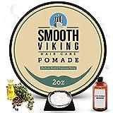 Hair Pomade for Men | Smooth Viking Pomade for Men Medium Hold & High Shine (2 Ounces) - Water Based...