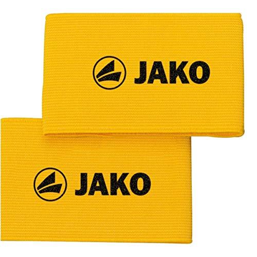 JAKO Unisex– Erwachsene Schienbeinschonerhalter-2124 Schienbeinschonerhalter, Gelb, 0