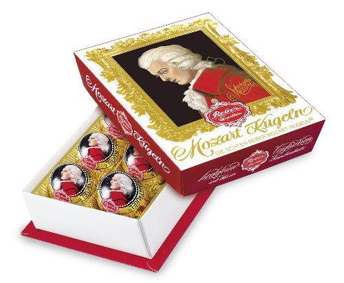 Feinste Reber Mozart-Kugel, 1 x 120g (6 Stück pro Packung), in Zartbitter-Chocolade,frei von künstlichen Konservierungsstoffen, frei von Farbstoffen,frei von Palmfett, Made in Germany