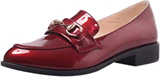 BeiaMina Women Fashion Low Heel Loafers Shoes Slip On