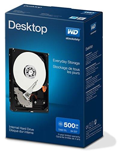 WD Blue Kit Disque dur interne Desktop Mainstream 500 Go 3,5 pouces SATA 7200 RPM