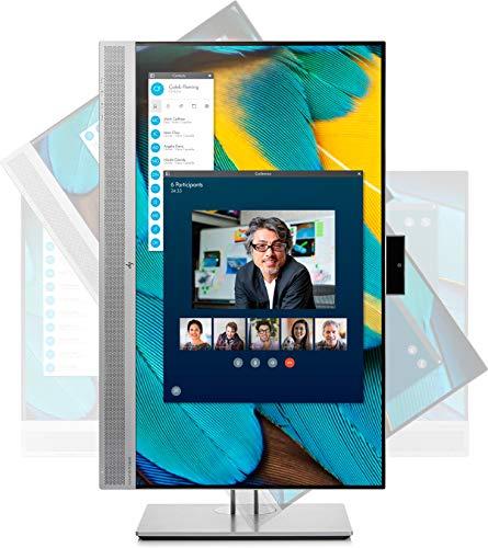"HP EliteDisplay E243m - Monitor de 24"" ajustable en altura (FHD antireflejo, 1920 x 1080, IPS LED, Webcam, Altavoces, 250cd/m, 5ms, 16:9, 1 x VGA, 1 x HDMI 1.4, 1 x DisplayPort 1.2, 2 x USB 3.0)"