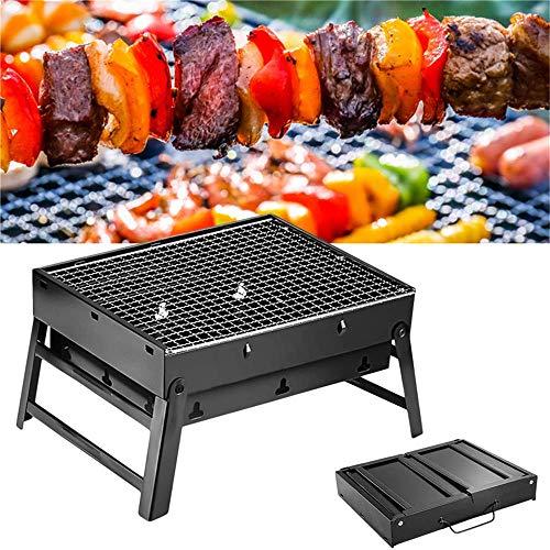 Lifemaison Holzkohlegrill Mini Grill Raucharmer Tischgrill Faltbare Tragbar Balkon-Grill Picknick-Grill Camping-Grill Grill mit Belüftung für Party Garten Hiking BBQ(S)