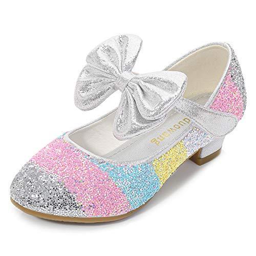 YOSICIL Zapatos Tacn Altos Nia Zapatos de Disfraz Princesa Zapatos de Tango Latino Nia Sandalias de Vestir Navidad Cumpleaos Regalo Infantil 3-14 Aos