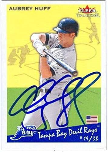 Super-cheap Autograph Warehouse 626245 Aubrey Autographed Purchase Card Huff Baseball