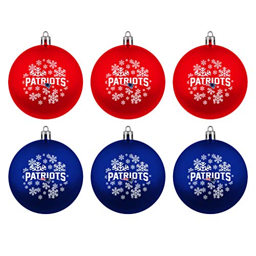 New England Patriots Boelter Brands NFL Weihnachtskugeln 6er-Set