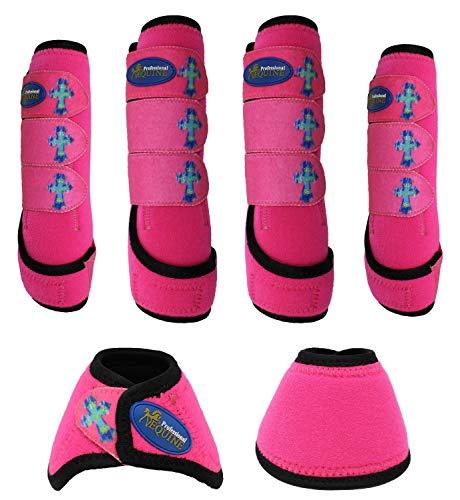 Professional Equine Horse Horse Sports Medicine Splint Boots & Bell Boots Combo 4181D