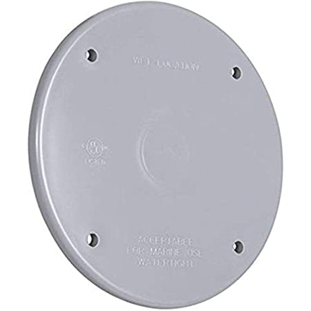 Hubbell 5374 0 Blank Round Flat Weatherproof Cover 4 In Dia X 1 16 In T Gray Metal Electrical Outlet Boxes
