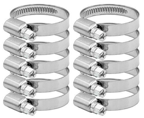 Pangaea Tech Edelstahl Schlauchschellen 25-40mm 10 Stück - Profi Qualität nach DIN 3017 für Pool, Teich und Garten