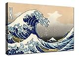 canvashop Quadri Moderni cm 100x70 Hokusai la Grande Onda di...