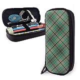 Scots Style Clan Craig Tartan Plaid Themed School Pencil Case Holder Pouch Office Pen Box Zipper Bag Set Pu Leather Zip Zip Accessories