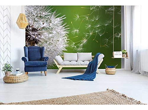 Vlies Fotobehang BLAZENDE PAARDEBLOEM | Niet-Geweven Foto Mural | Wall Mural - Behang - Reusachtige Wandposter | Premium Kwaliteit - Gemaakt in de EU | 375 cm x 250 cm