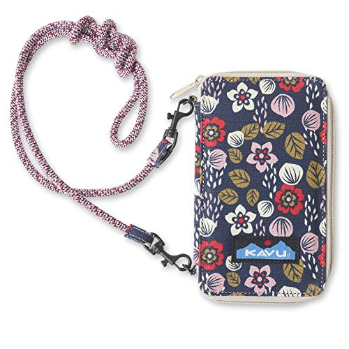 KAVU Go Time Bi-Fold Clutch Wallet with Crossbody Rope Strap - Sakura Fall