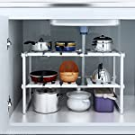 Classic-2-Tier-Multifunctional-Storage-Rack-Expandable-Under-Sink-Organizer-Adjustable-with-Removable-Shelves-and-Steel-Pipes-for-Kitchen-Bathroom-Cabinet-and-Garden-US-STOCK