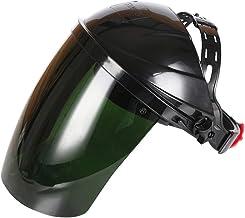 ULTECHNOVO Säkerhetsansiktsskydd med huvudbonader svetslins strålning ansiktsskydd (mörkgrön)