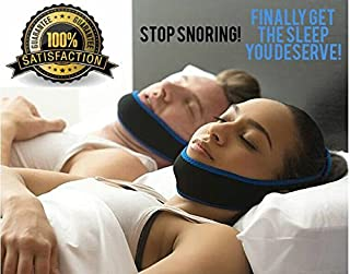 Anti Snoring Chin Strap - Stop Snoring Solution Adjustable FITS All Sizes Chin Strap for Men Women and Kids Snoring Reduction Device Instant Snore Relief Natural Sleeping Aid Easy Breathing