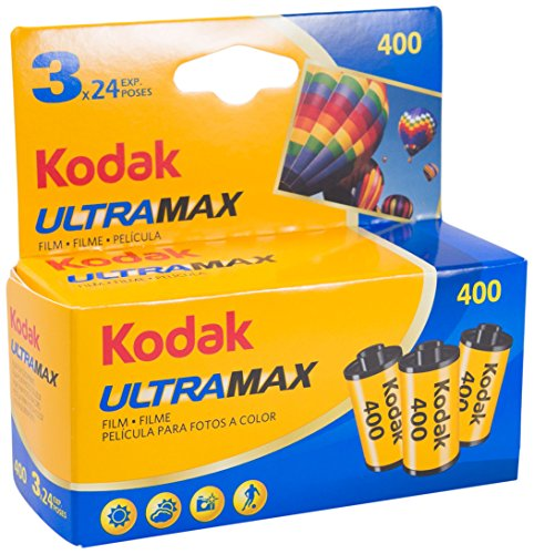 KODAK KOD102201 - Película negativo color (35mm, ultra max gc 400-24 tripack) multicolor