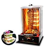 Rotisserie Toaster Oven Grill - Countertop Kebab Electric Cooker Rotating Roaster Baking Machine, Stainless Steel Bakeware, 4 Heating Tubes,Business & Home Use (Vertical)