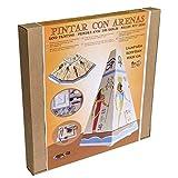 Arenart | 1 Lámpara Egipcia 19x19x35cm | para Pintar con Arenas de Colores | Manualidades para...