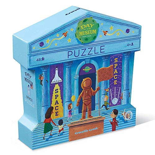 Bertoy 384063-2 Day at Space Museum -Piece Bodenpuzzles, Blau/Grün/Orange/Rot/Rosa, 18