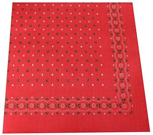 Tobeni 548 Bandana Head- Pañuelos para el Cuello de Tela 100% Algodón Unisex Color Corazón Rosa Tamaño 54 cm x 54 cm