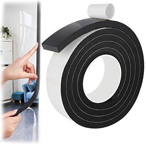 Smilerain クッションテープ 防音 隙間テープ すきまテープ 冷暖房効率アップ スポンジロール ショックノンテープ 弾力 防音絶縁 緩衝材 衝突防止 防音戸当たりテープ 25mm (幅) x 10mm (厚さ) x5m (長さ) x 1本