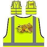 Cartel de pan de panadería Chaqueta de seguridad amarillo personalizado de alta visibilidad v722v