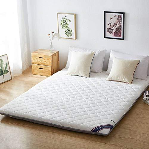 SATATAM Futon matras, matras topper Japanse vloer matras slaapkussen Japans bed drievoudig vouwen gast bed draagbare roll up slaapzaal harde vloer mat