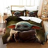 ZJJIAM Star Wars - Juego de funda nórdica y funda de almohada (YOUDA 2,220 cm x 240 cm)