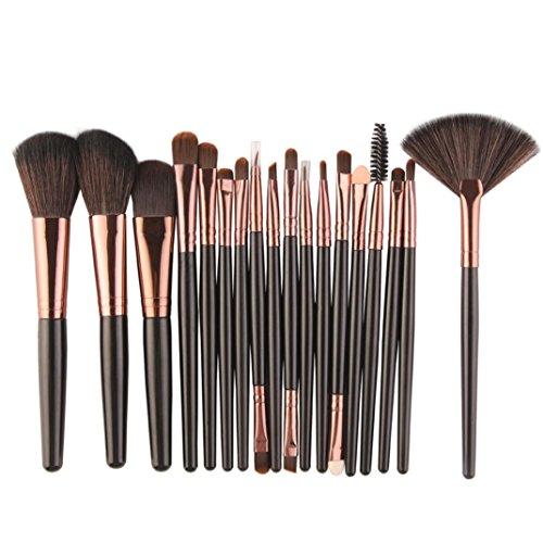 MuSheng(TM) Pinceaux set - 18pcs pinceau de maquillage (Noir)